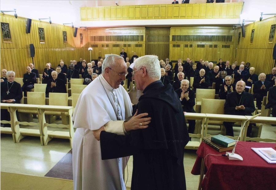 Abbraccio con Papa Francesco